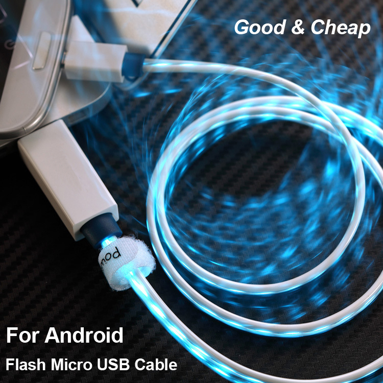 Flash Micro USB Cable Android Mobile Phone Charging Cable USB2.0 Data Sync Charger Cable Universal for Samsung HTC Huawei Xiaomi(China (Mainland))