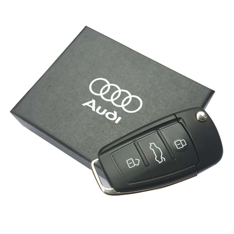 The new Audi car keys USB flash drive 4G 8G 16G 32G 64G pen drive gift box packaging memory stick USB2.0 high quality U disk(China (Mainland))