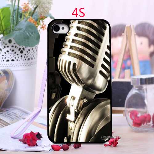 Luxury Fashion Custom love Music Microphone Design Unique Best Durable PC Cell Phone Case for iPhone 4 4s 5 5s 5c 6 6 Plus(China (Mainland))