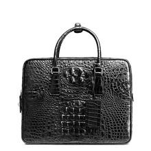 BVP 2016 Luxury Gift Top Level Super Designer Business Men Crocodile Leather Brifecases Black (alligator Laptop Man Bag) J10(China (Mainland))