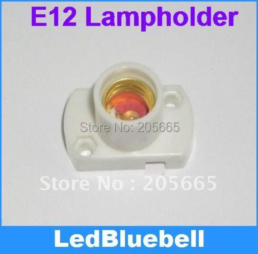 E12 Edison screw lampholders E12 show a white lamp holder(China (Mainland))