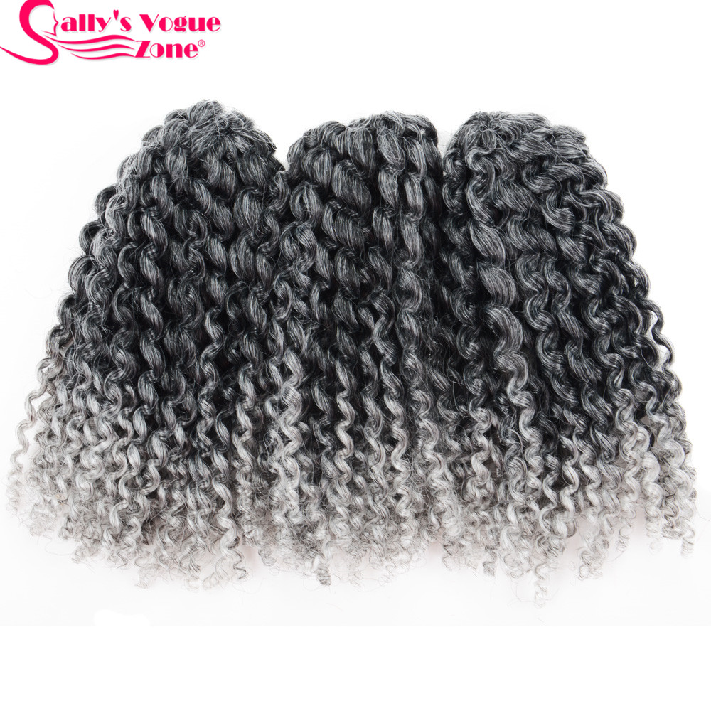 8Inch 3pcsset Crochet Braids Marlybob Hair Synthetic Kinky Twist Curly Crochet Braiding Hair Extensions Jumbo Twist Hair Styles (98)_