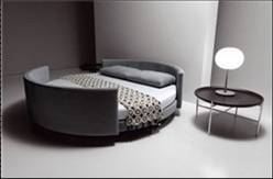 Factory price italy design large size round bed with for Round bed designs with price
