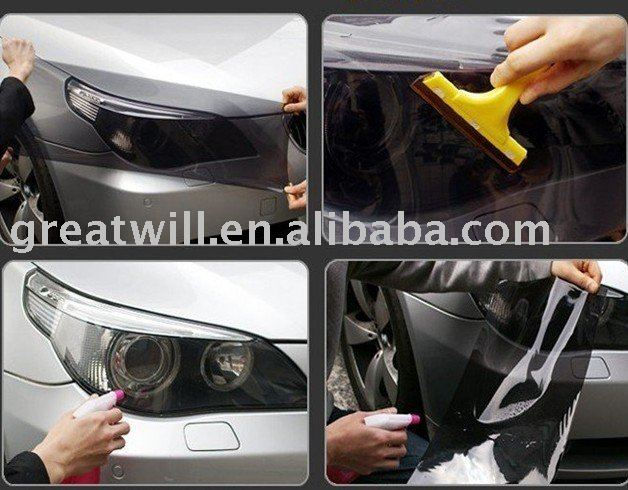 headlight covers tint tail lights film tint free shipping(China (Mainland))