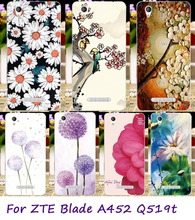 Soft TPU Cell Phone Covers Suitable For ZTE Blade A452 Q519T Cases Beautiful Flowers Painted Mobile Phone Accessories & Parts