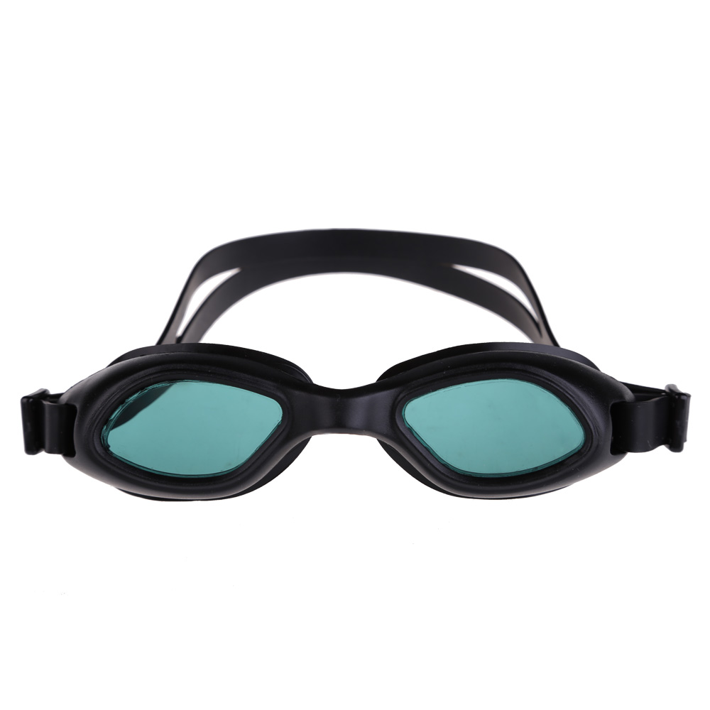 Silicon Conjoined Swimming Goggles Anti-fog PC Lens Diving Black  <br><br>Aliexpress