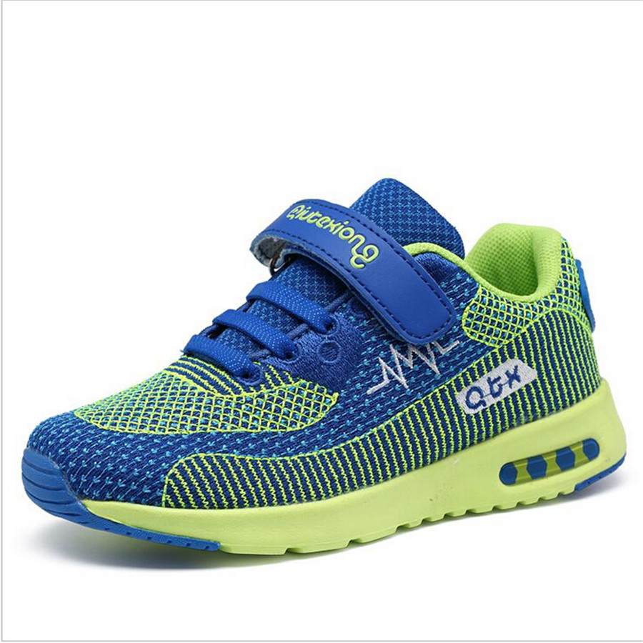 Free shipping Fly line shoes Four Seasons children's shoes breathable mesh running shoes boys and girls sport shoes 2016 Velcro(China (Mainland))