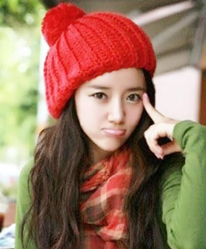 2016 New Arrival Knitted Cap 10 Candy Colors Beanies Headgear For Women Winter Sweety Cute Hat Baggy Handmade Wool Hot CY01(China (Mainland))