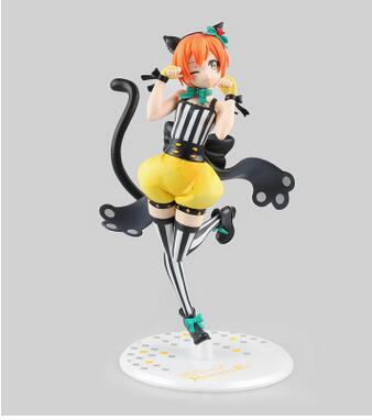 Hot toys Anime love live Rin Hoshizora Statue.School Idol Project lovely girl PVC Action Figure model toy free shipping(China (Mainland))