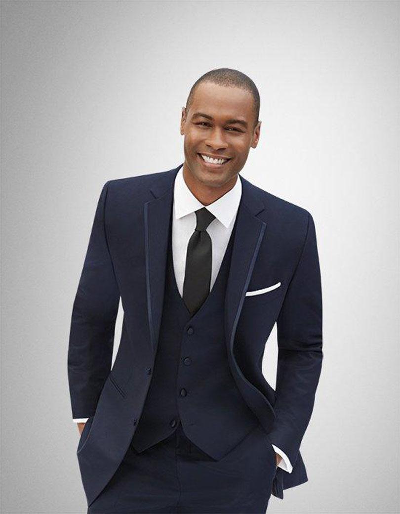black suit navy blue vest dress yy