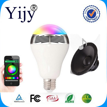 1pc 6W E27 Wireless Bluetooth Speaker RGBW Color Smart LED Light Bulb Lamp with the newest type!(China (Mainland))