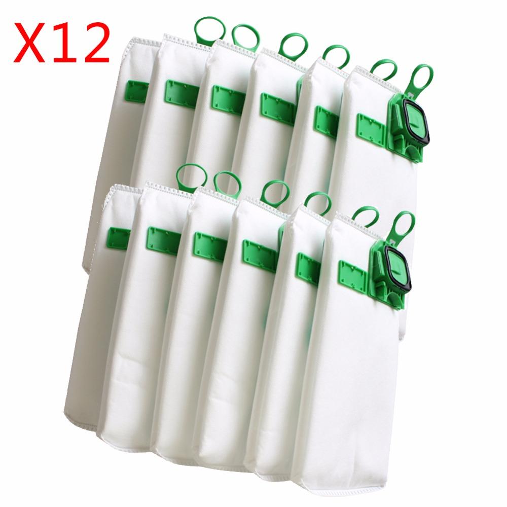 12pcs high efficiency dust filter bag replacement for VK140 VK150 Vorwerk garbage bags FP140 Bo rate kobold Vacuum cleaner(China (Mainland))