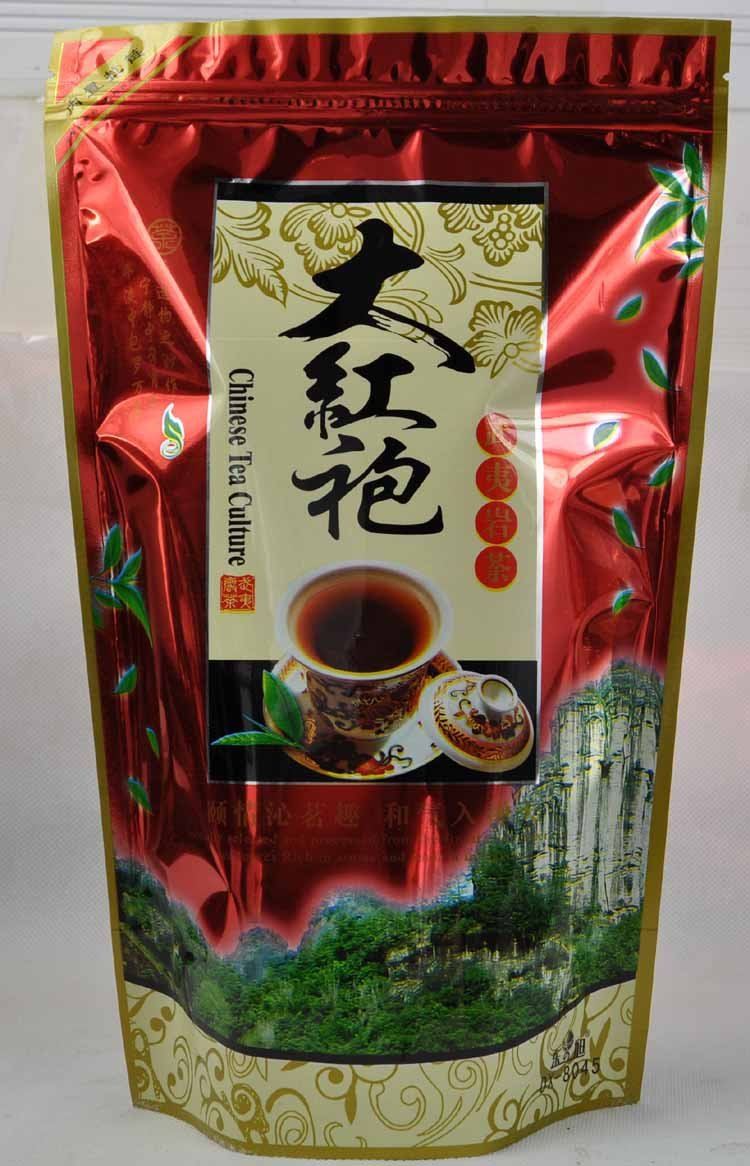 250g Dahong Pao Tea Zip Seal bag Package Wuyi Oolong Tea Wuyi Wu long Tea Tea