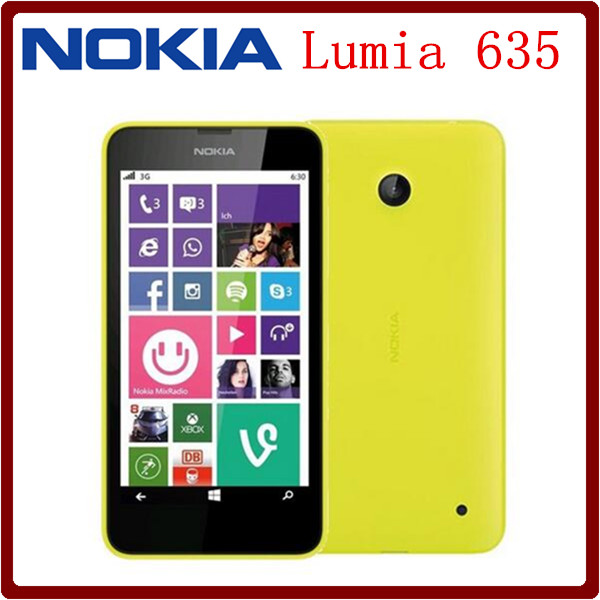 New Arrival Original Unlocked Nokia Lumia 635 4.5`` Windows Mobile OS 1GB RAM 8GB ROM 5MP 720P GPS WIFI Smartphone Free Shipping(China (Mainland))