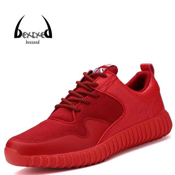 New 2016 summer Fashion Men Shoes High Top Casual Red Suede Leather Boots Men Trainers Breathable British Style Basket(China (Mainland))