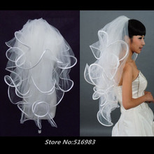 Free Shipping 2016 New Four 4 Layer White Ivory 100-135cm Wedding Veil For Weddings Accessories Bride Veil In Stock With Comb(China (Mainland))