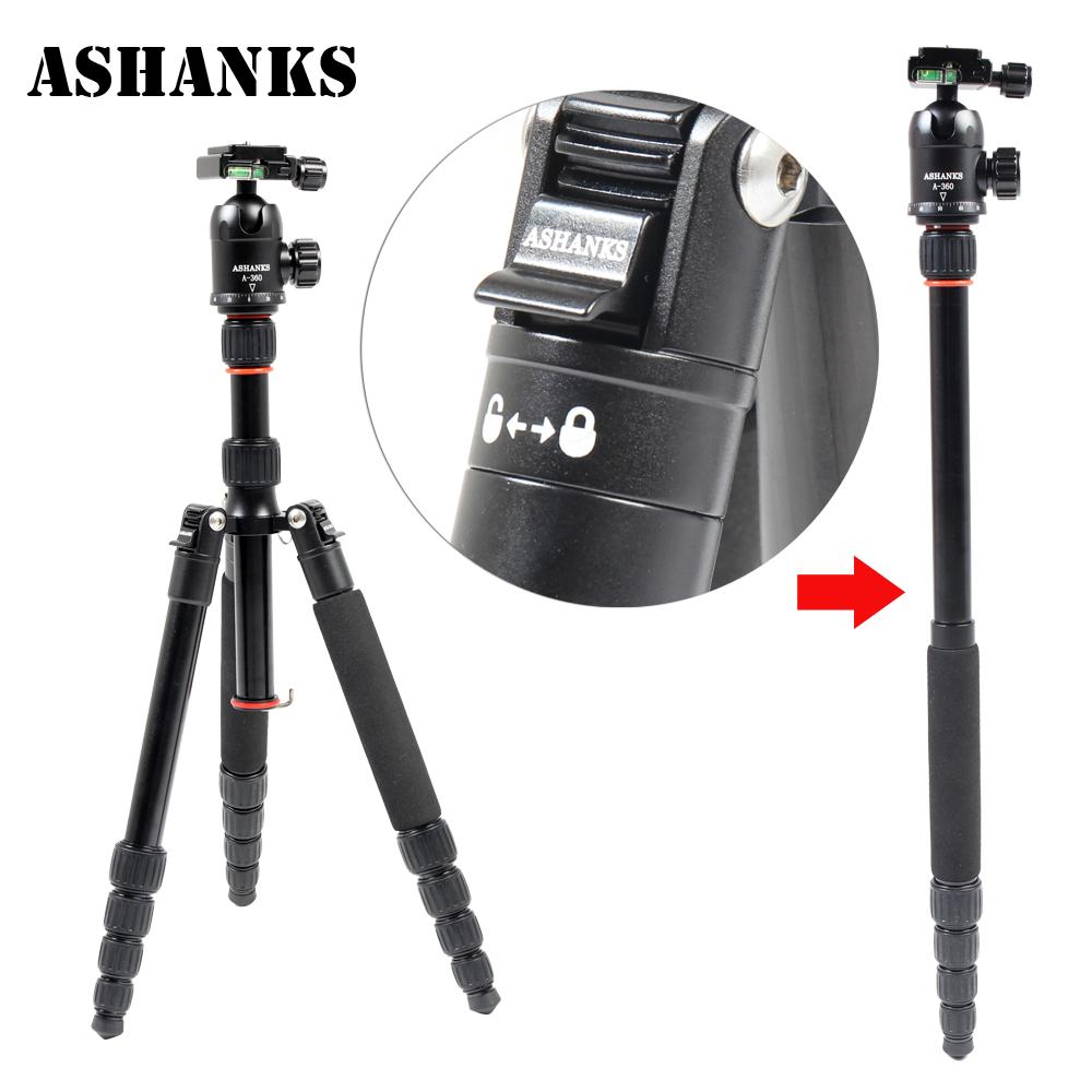 ASHANKS New A25 Aluminum Professional Tripod Monopod + Ball Head For DSLR camera Portable / SLR Camera stand(China (Mainland))