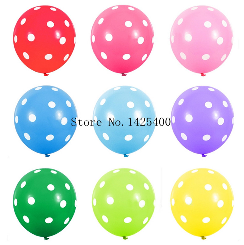 Free shipping 10pcs / lots latex balloons birthday party decoration dot latex toy balloons wholesale(China (Mainland))