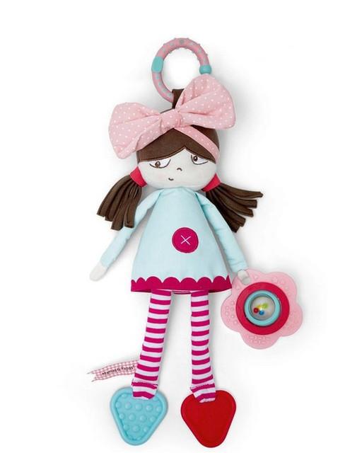 0 + новый ребенок плюшевые игрушки красочные погремушка прекрасный девочка кроватки кровать висит прорезыватель кольцо колокол игрушка ребенок погремушки раннего образовательных кукла