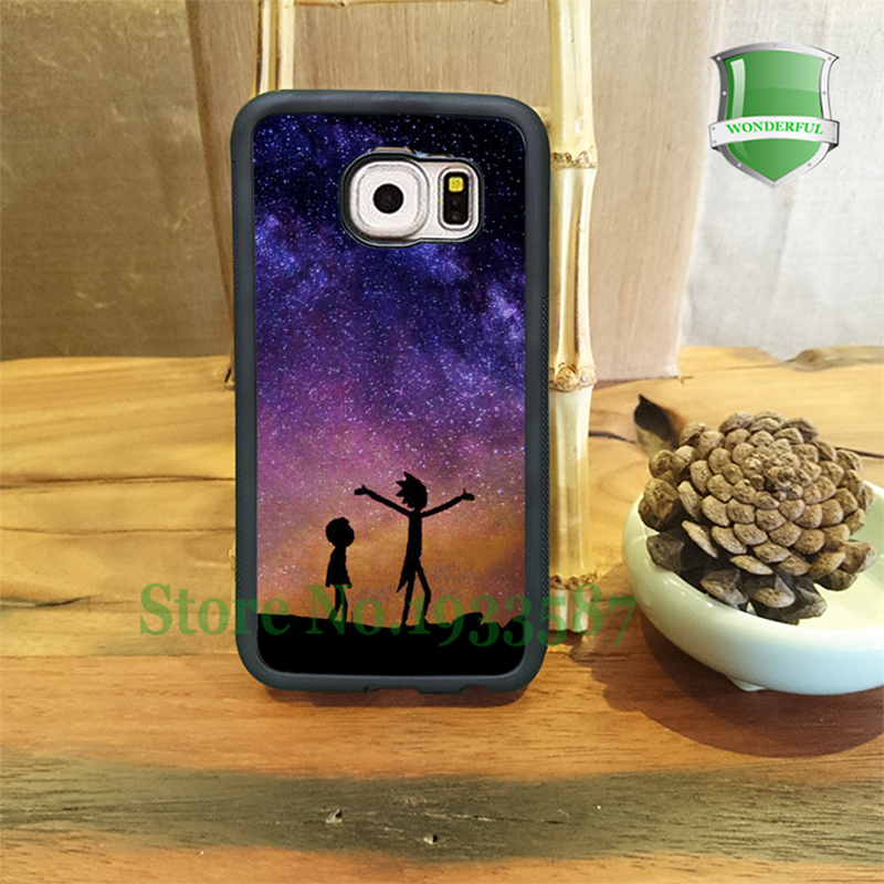 RICK AND MORTY SPACE NEBULA Mobile Phone Cases For Samsung S7 S7 Edge S6 S6 Edge Plus S5 S4 S3 Note5 Note4 Note3 Note2 T*3534(China (Mainland))