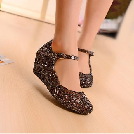 Hole shoes female sandals birds-nest sandals shoes plastic crystal jelly shoes womens shoes<br><br>Aliexpress