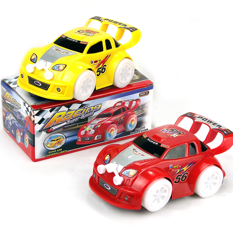 Electric music light emitting car stunning toy car remote control automobile race electric car toy(China (Mainland))