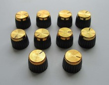 Pack of 10 Guitar Amplifier Knobs Gold Cap Push On Knob fits Marshall AMP(China (Mainland))