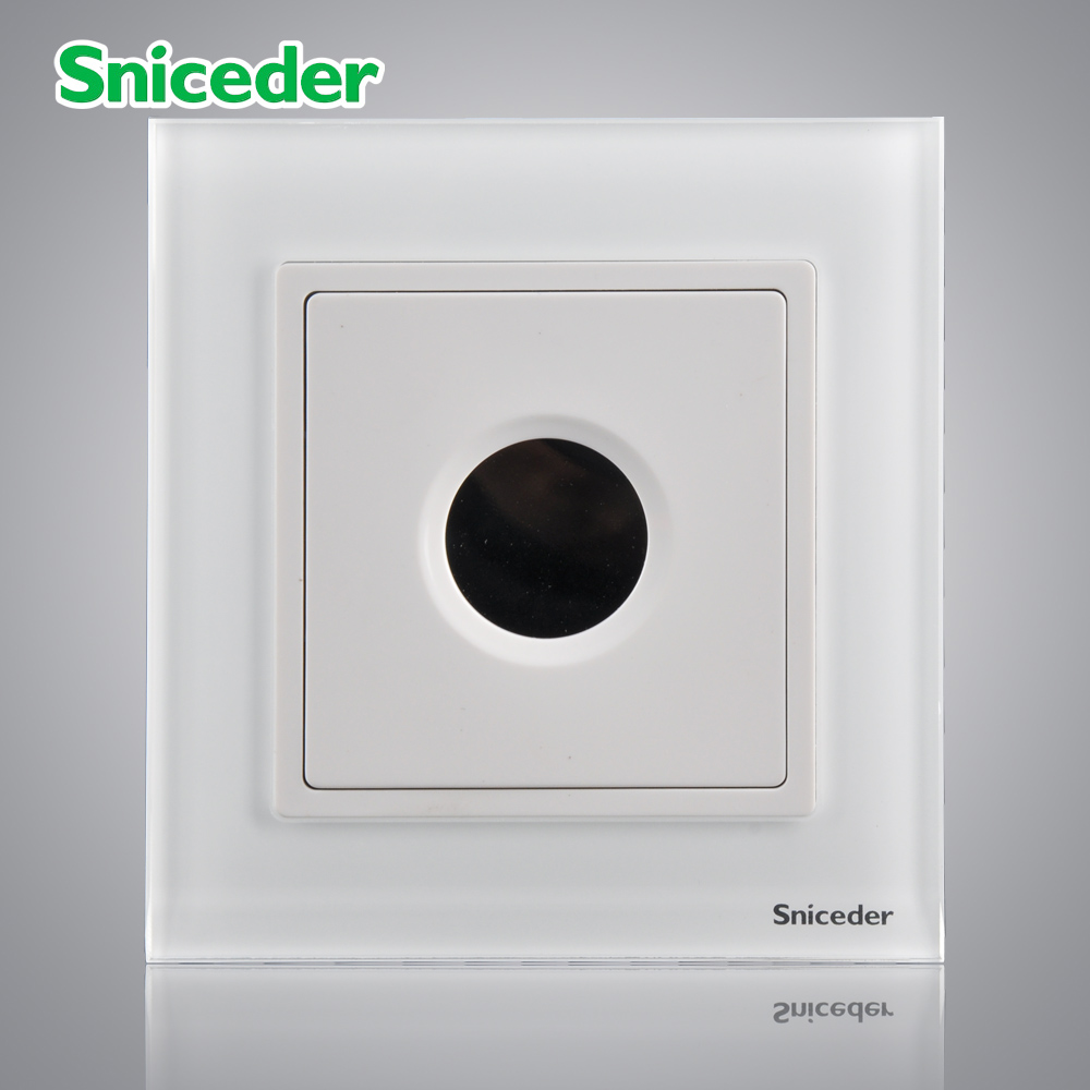 Scinder glass panel elegant white touch delay switch controls the energy saving lamps LED lamps incandescence<br><br>Aliexpress