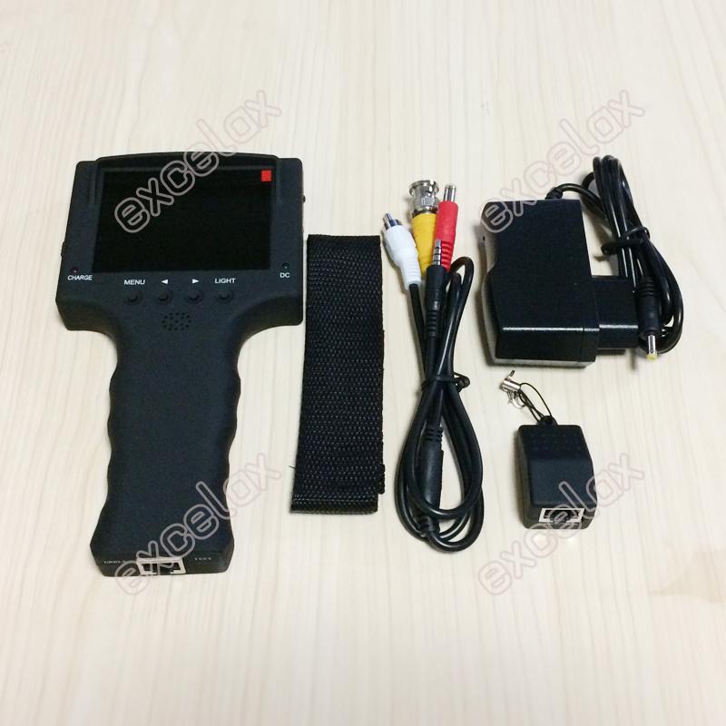 """3 5 """"ЖК дисплей CVBS аналоговая камера для видеонаблюдения Тесты er 640x480 видео Analog CCTV tester 352_201704 (9)2"""