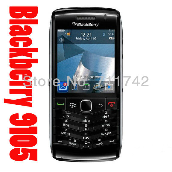 9105 100% Original Unlocked Blackberry Pearl 9105 Cell Phone 3G WIFI GPS 3.2MP refurbished(China (Mainland))