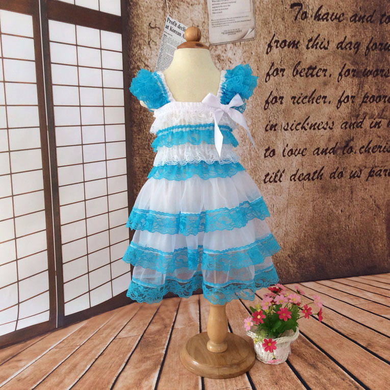 New infant baby girls lace dresses children clothing for autumn -summer kids princess flower tutu dress 4colors red cake dress(China (Mainland))