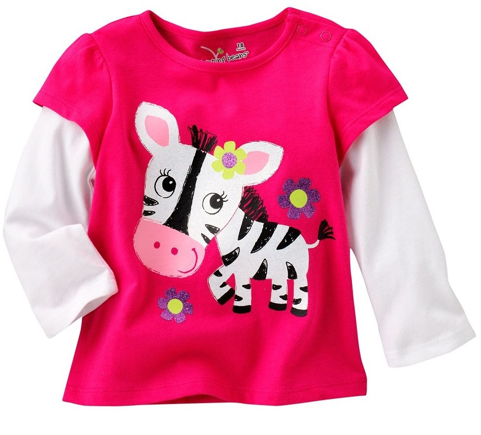 jumping beans cute zebra girls t-shirts long sleeve tshirt children's t shirt kids tee girl jumper sweatshirt jersey M1699
