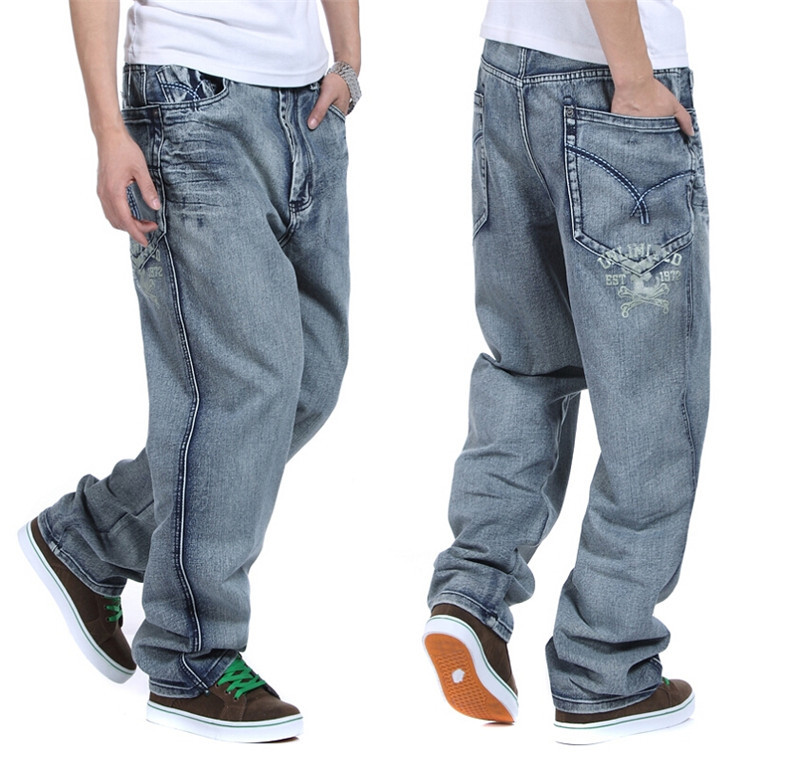 european and american mens baggy jeans big size 30 32 34 36 38 40 42 44 46 boy skateboard men. Black Bedroom Furniture Sets. Home Design Ideas