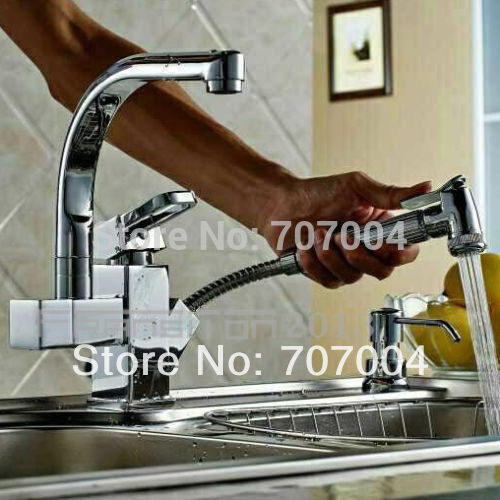 Wholesale And Retail Multi-function Kitchen Sink Mixer Tap Brass Pull Out Hand Shower Kitchen Taps<br><br>Aliexpress
