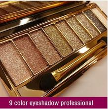 2015 New women 9 colors diamond bright colorful makeup eye shadow super make up set flash Glitter eyeshadow palette with brush