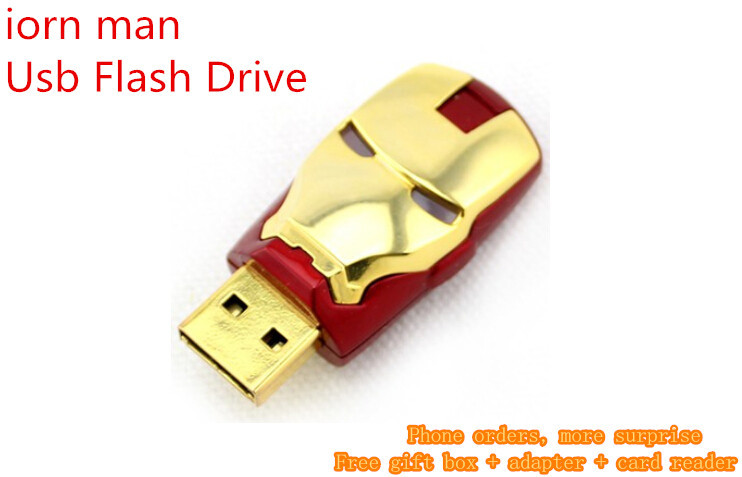 real capacity Iron Man Usb Flash Drive 64gb 128GB 256GB 512GB Memory Sticks Pendrive Pen Drive Memoria USB External Storage(China (Mainland))