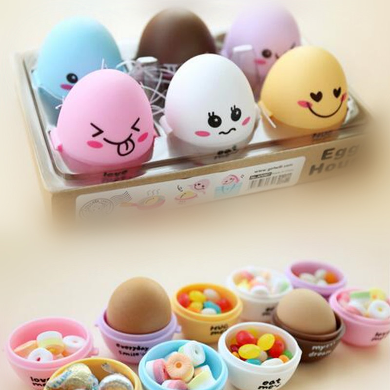 6Pieces/lot 6 Colors Pill Case Portable Egg Design Pill Box Also Can Be Candy Storage Good Gifts for Kids Health Care Tools(China (Mainland))