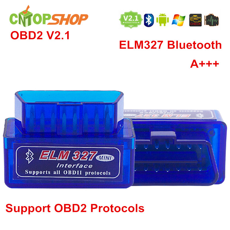 Factory Direct ELM 327 V2.1 OBD2 OBDii Diagnostic Tool OBD ELM327 Bluetooth Auto Scanner Multi-language Support Low Price(China (Mainland))
