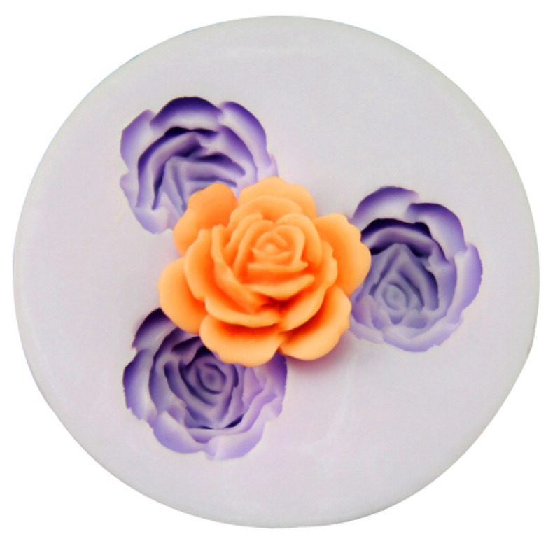 DIY silicone molds for cake decoration fondant mould mini chocolate candy flakes soap 5.9x1.1 cm flower shape molds F0426HM50(China (Mainland))