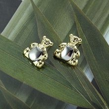 Free Shipping!!! Wholesale Quality Lovely Bear Style 18K Yellow Gold & Platinum Plated Stud Earrings, Factory Price! (111212-03)(China (Mainland))