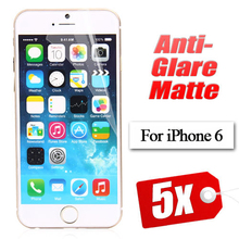 Free shipping Anti Glare Matte Screen Protector for Iphone 6 4.7 inch LCD protective film with retail package