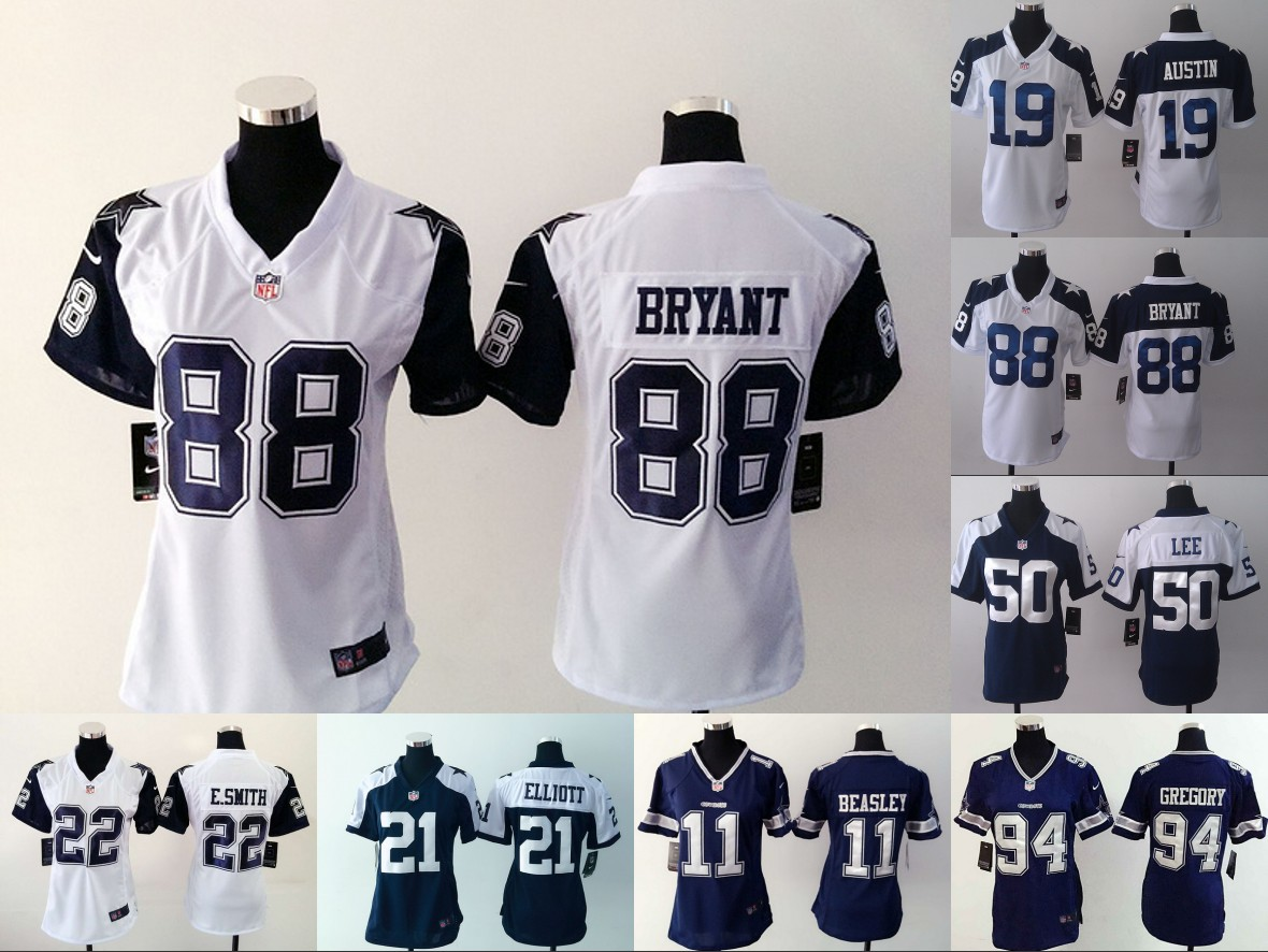 Women Lady all stitched Dallas Cowboys ,#88 Dez Bryant #82 Jason Witten E.smith #21 Ezekiel Elliott #11 #94 #50 #19(China (Mainland))