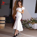2017 New Off Shoulder Mermaid Formal Prom Dresses Couture 2017 Formal White Evening Dress Plus Size
