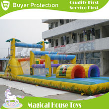 Free Shipping by SEA Big Discount Commercial Inflatable Jungle Fun Obstacle Course Giant  inflatable obstacle course For Sale(China (Mainland))