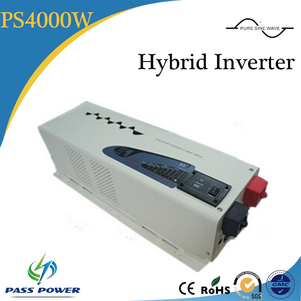 4kw/4000w pure sine wave off grid hybrid solar grid tie inverter(China (Mainland))