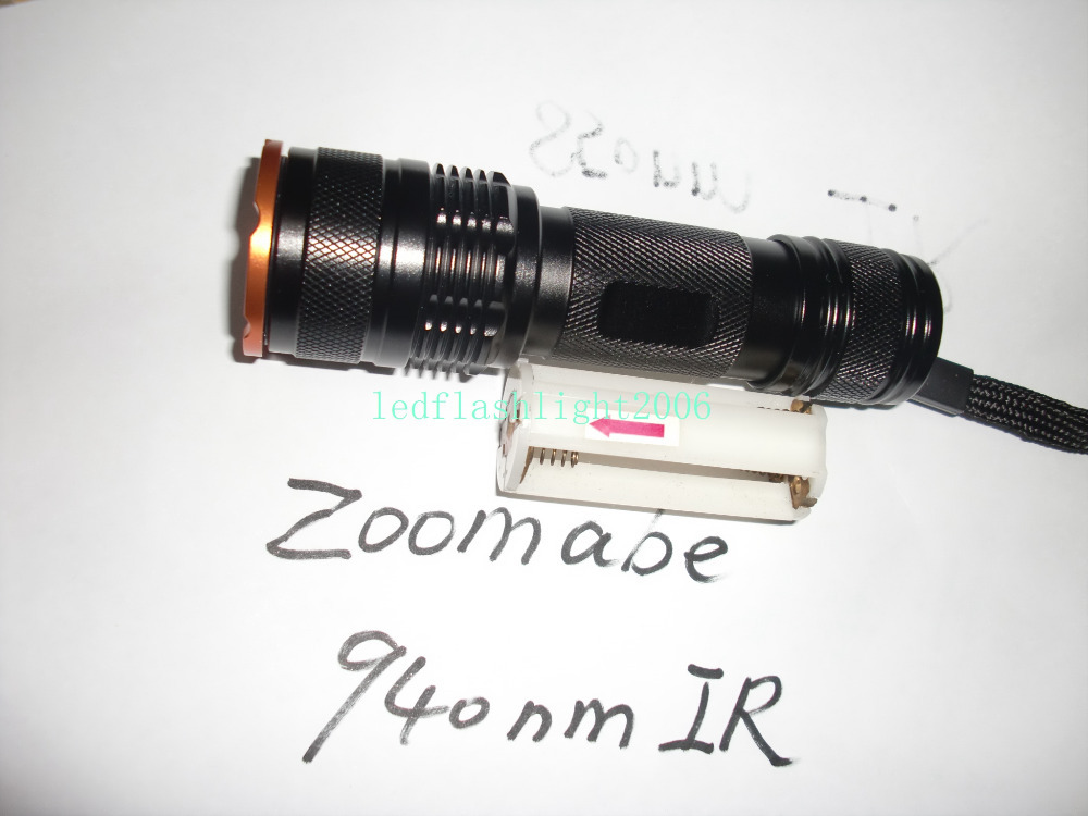 Zoomable adjustable focus 3W 940nm CREE IR NVG Infrared LED 18650 AAA night vision focusing Flashlight(China (Mainland))
