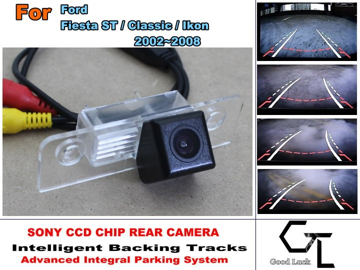CCD  For Ford Fiesta ST / Classic / Ikon 2002~2008 HD Car Back Up camera  Night Vision Parking Assistance Tracks Module<br><br>Aliexpress