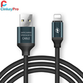 CinkeyPro USB Cable For iPhone ipad 8 pin Universal Charging 2 in 1 Colorful Aluminum Mobile