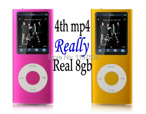 100% Real 8GB 4th Gen MP3/MP4 Player With FM Radio+Gift box Free Shipping wholesale 1pc/lot(China (Mainland))