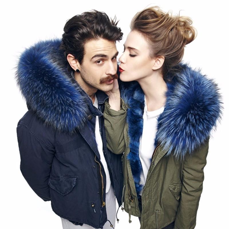 Perfect fluffy coat collars dark blue fur collar real raccoon Scarf 100cm(China (Mainland))